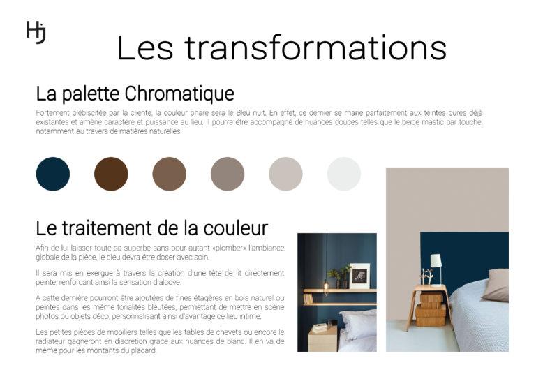 """Les transformations """"Une Chambre Parentale Enveloppante"""""""