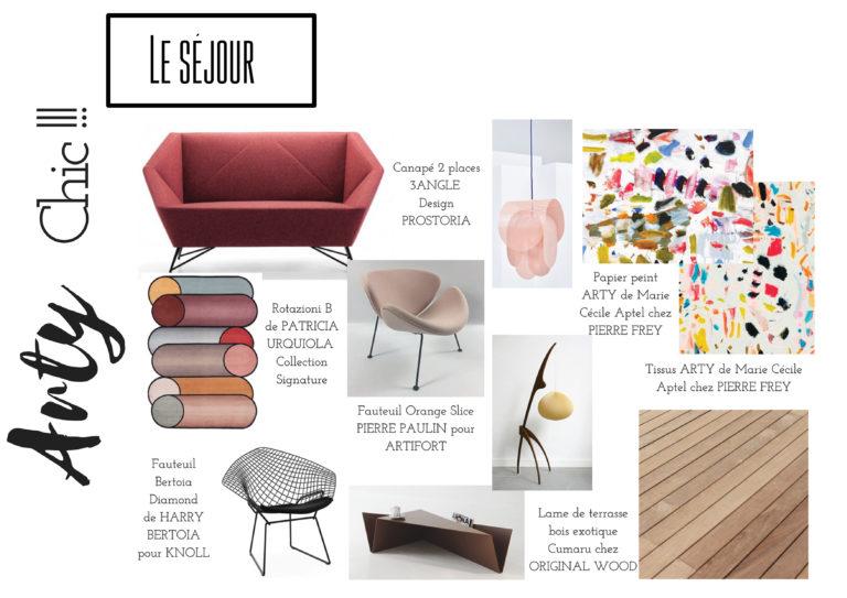 """Shopping List Le Séjour """"Arty Chic"""""""