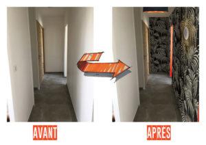 AVANT/APRES couloir Chic & Color