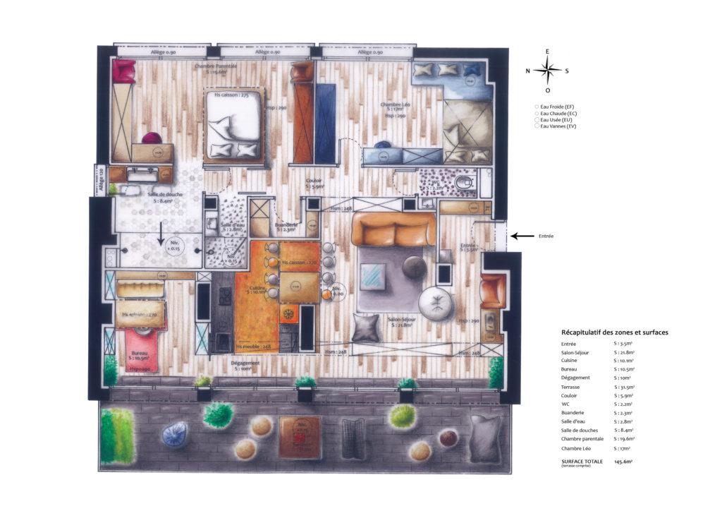 Plan d'Aménagement Intérieur Fascino Rust