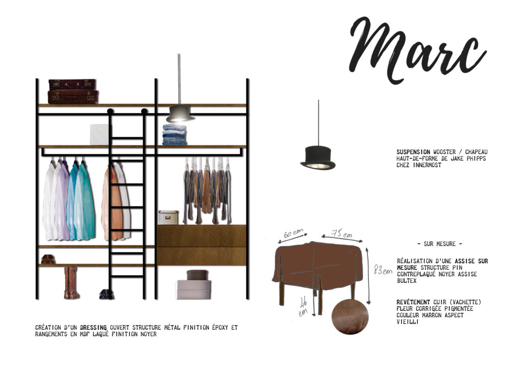 Shopping List Chambre Parentale Marc Fascino Rust