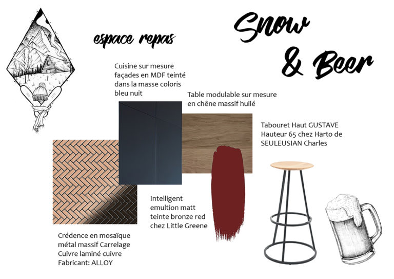 "Shopping List Espace Repas ""Snow & Beer"""