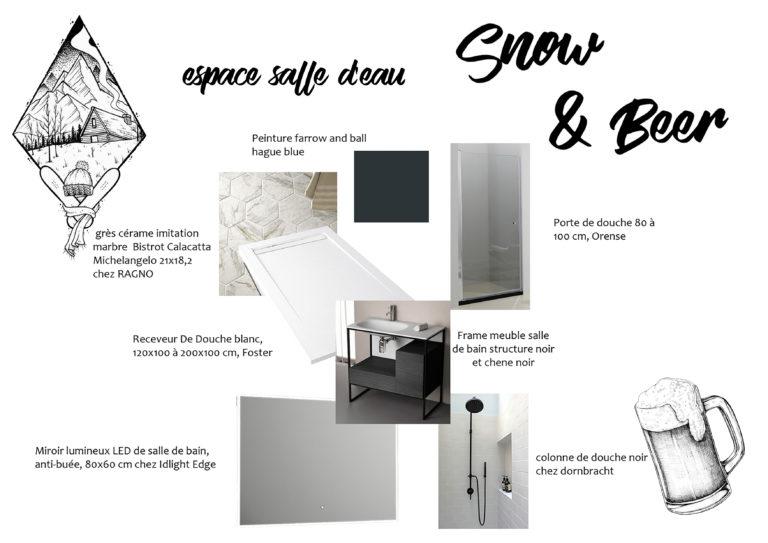 "Shopping List Salle d'eau ""Snow & Beer"""