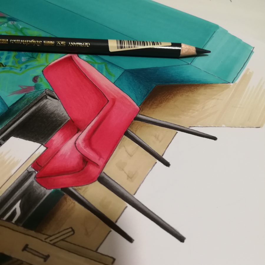 Croquis fauteuil